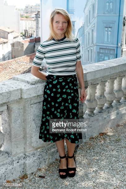 Actress of Le vent tourne Melanie Thierry dressed in Miu Miu attends the 11th Angouleme FrenchSpeaking Film Festival Day Three on August 23 2018 in...