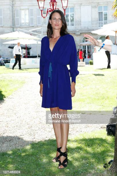 Actress of 'Photo de Famille' Camille Cottin attends the 11th Angouleme FrenchSpeaking Film Festival Day Two on August 22 2018 in Angouleme France