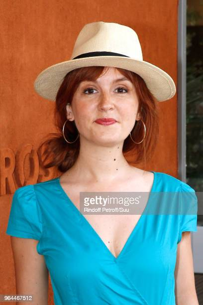 "Actress of ""Scenes de menages"" Justine Le Pottier attends the 2018 French Open - Day Five at Roland Garros on May 31, 2018 in Paris, France."