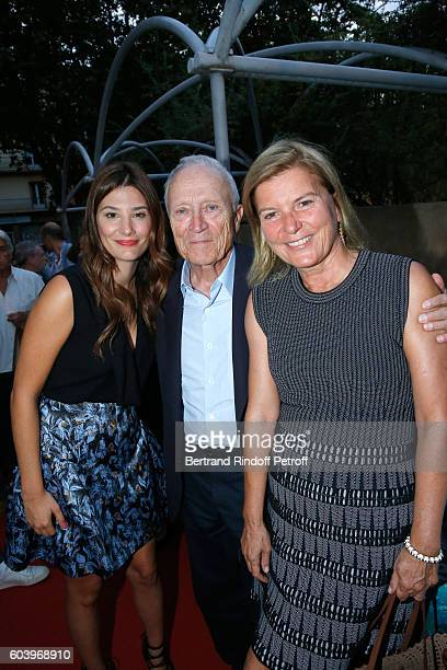 Actress of the movie Alice Pol President of Pathe Jerome Seydoux and his wife Sophie attend the 'Cezanne et Moi' Premiere Held at the Cinema 'Le...