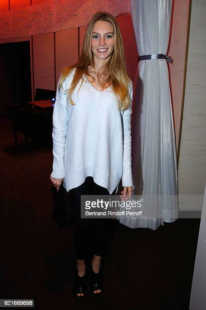 Actress of the movie Alicia Endemann attends the 'Ma famille t'adore deja' Paris Premiere at Cinema Elysee Biarritz on November 7 2016 in Paris France
