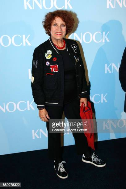Actress of the movie Andrea Ferreol attend the 'Knock' Paris Premiere at Cinema UGC Normandie on October 16 2017 in Paris France