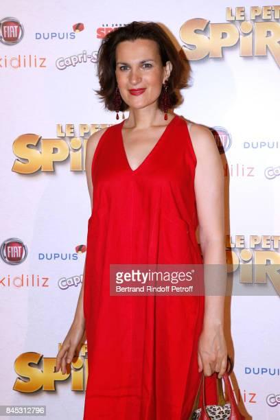Actress of the movie Armelle Lesniak attends the 'Le Petit Spirou' Paris Premiere at Le Grand Rex on September 10 2017 in Paris France