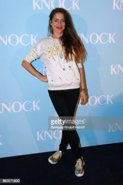 Actress of the movie Audrey Dana attends the Knock Paris Premiere at Cinema UGC Normandie on October 16 2017 in Paris France
