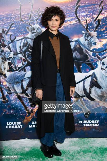 Actress of the movie Audrey Tautou attends the Santa Cie Paris Premiere at Cinema Pathe Beaugrenelle on December 3 2017 in Paris France