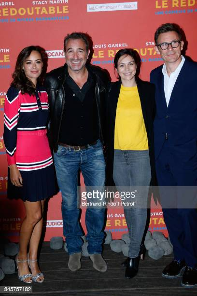 Actress of the movie Berenice Bejo actor Jean Dujardin Nathalie Pechalat and director of the movie Michel Hazanavicius attend the 'Le Redoutable'...