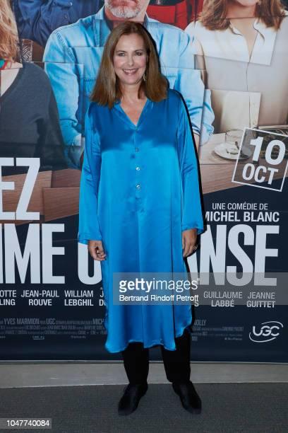 "Actress of the movie Carole Bouquet attends the ""Voyez comme on danse"" Paris Avant Premiere at Cinema UGC Normandie on October 8, 2018 in Paris,..."