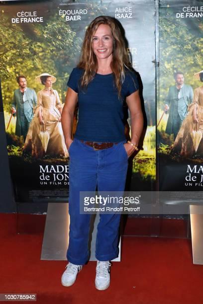 Actress of the movie Cecile de France attends the Mademoiselle De Joncquieres Paris Premiere at UGC Cine Cite des Halles on September 10 2018 in...