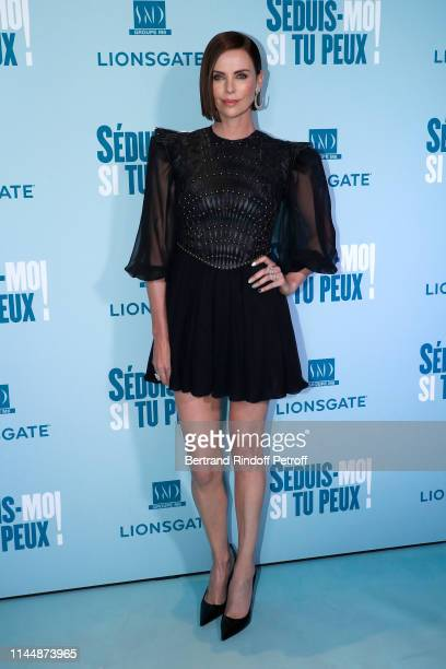 Actress of the movie Charlize Theron attends the Long Shot Seduismoi si tu peux Premiere at Gaumont Opera Capucines on April 24 2019 in Paris France