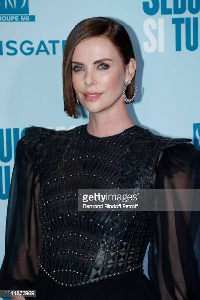 """Actress of the movie Charlize Theron attends the """"Long Shot - Seduis-moi si tu peux"""" Premiere at Gaumont Opera Capucines on April 24, 2019 in Paris,..."""