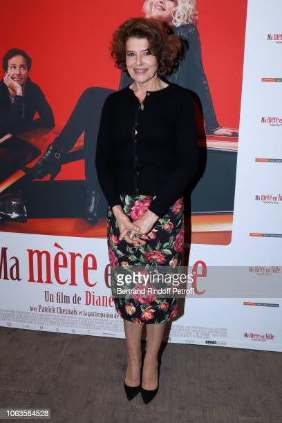 Actress of the movie Fanny Ardant attends the Ma mere est folle Private Projection at Elysee Biarritz on November 19 2018 in Paris France