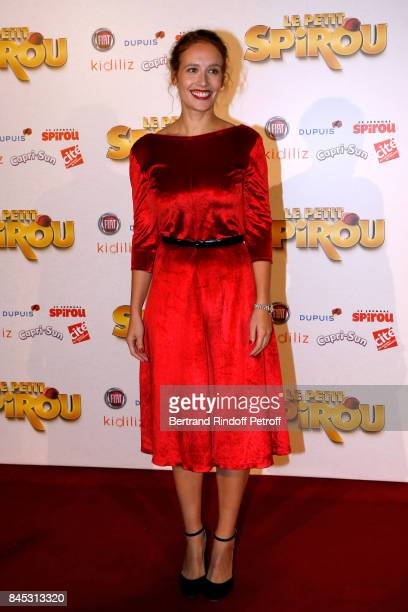 """ACtress of the movie Gwendolyn Gourvenec attends the """"Le Petit Spirou"""" Paris Premiere at Le Grand Rex on September 10, 2017 in Paris, France."""