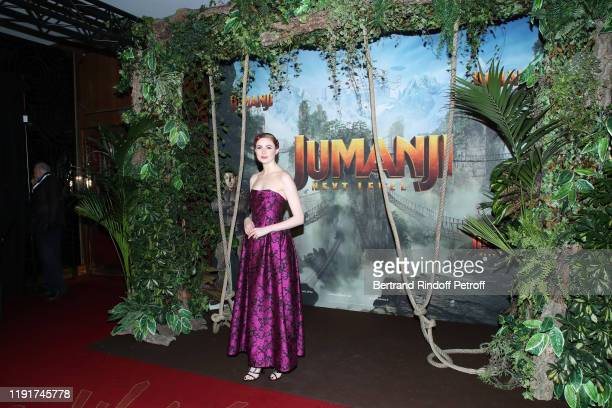 Actress of the movie Karen Gillan attends the photocall of the Jumanji Next Level film at le Grand Rex on December 03 2019 in Paris France