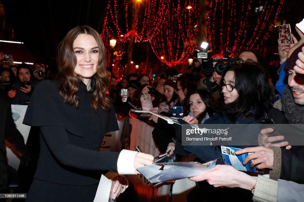 'Colette' Paris Premiere At Gaumont Marignan : News Photo