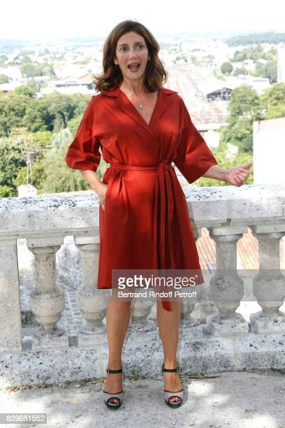 Actress of the movie 'L'ecole buissonniere' Valerie Karsenti it is her Birthday today attends the 10th Angouleme FrenchSpeaking Film Festival Day...
