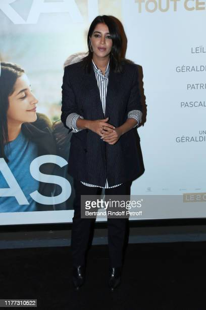 ACtress of the movie Leila Bekhti attends the J'irai ou tu iras Premiere at Cinema UGC Bercy on September 26 2019 in Paris France