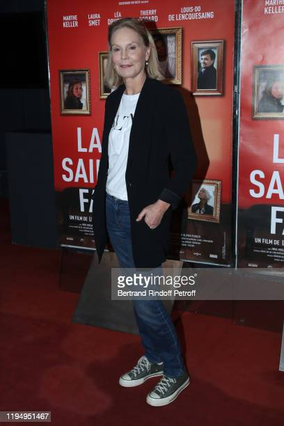 Actress of the movie Marthe Keller attends the La Sainte Famille Premiere at UGC Les Halles on December 19 2019 in Paris France