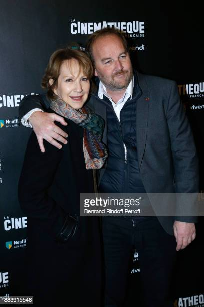 Actress of the movie Nathalie Baye and Director of the movie Xavier Beauvois attend the 'Les Gardiennes' Paris Premiere at la cinematheque on...