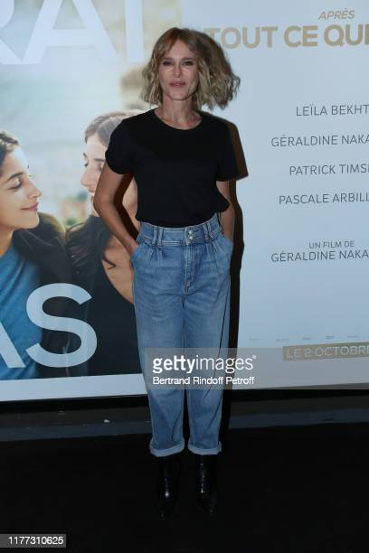 Actress of the movie Pascale Arbillot attends the J'irai ou tu iras Premiere at Cinema UGC Bercy on September 26 2019 in Paris France