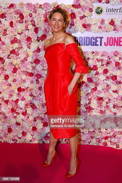 Actress of the movie Renee Zellweger attends the 'Bridget Jones Baby' Paris Premiere Held at Cinema Le Grand Rex on September 6 2016 in Paris France