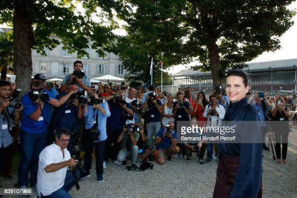 Actress of the movie 'Un beau soleil interieur' Juliette Binoche attends the 10th Angouleme FrenchSpeaking Film Festival Day Four on August 25 2017...