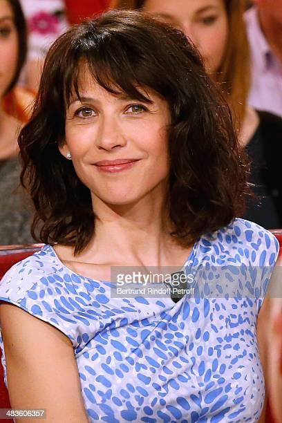 Actress of the movie 'Une Rencontre' Sophie Marceau attends the 'Vivement Dimanche' French TV Show at Pavillon Gabriel on April 9 2014 in Paris France