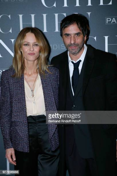 Actress of the movie Vanessa Paradis and Director of the movie Samuel Benchetrit attend the 'Chien' Paris Premiere at Mk2 Bibliotheque on March 5...