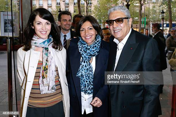 Actress of the movie Zabou Breitman Mayor of Paris Anne Hidalgo and singer Enrico Macias attend the '24 Jours' Paris Premiere at Cinema Gaumont...