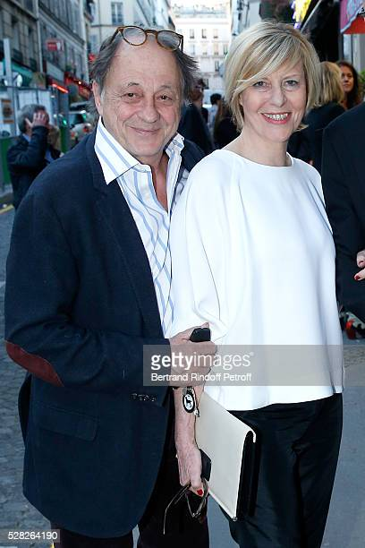 Actress of the Piece Chantal Ladesou sand her husband Michel Ansault attend the team of the Piece celebrate the end of the theater play Nelson Tour...