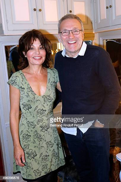 Actress of the Piece Isabelle Mergault and Laurent Ruquier attend the Theater Play 'Ne me regardez pas comme ca ' performed at 'Theatre Des Varietes'...