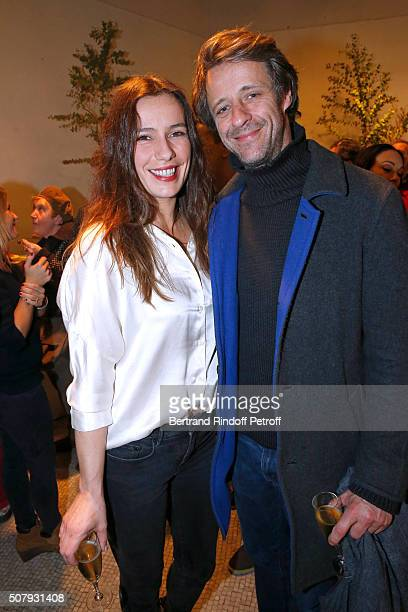 Actress of the Piece Zoe Felix and her companion Benjamin Rolland attend the Theater Price 2015 of Foundation Diane Lucien Barriere given to the...