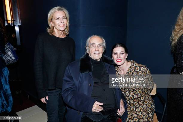Actress of the show Claire Chazal Composer of the show Michel Legrand and actress of the show MarieAgnes Gillot attend the Reopening of The Marigny...
