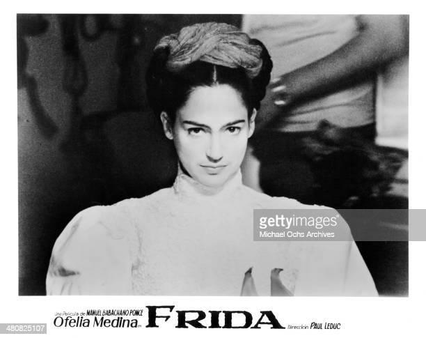 Actress Ofelia Medina in a scene from the movie Frida Still Life circa 1986