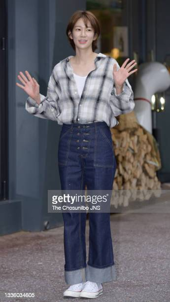 Actress Oh Hye-Won attends the ending party of OCN Drama 'Strangers from Hell' photo call at Heukdonga in Seoul, South Korea on September 06, 2019.