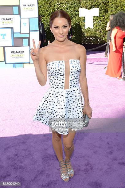 Actress Oka Giner attends the 2016 Latin American Music Awards at Dolby Theatre on October 6 2016 in Hollywood California