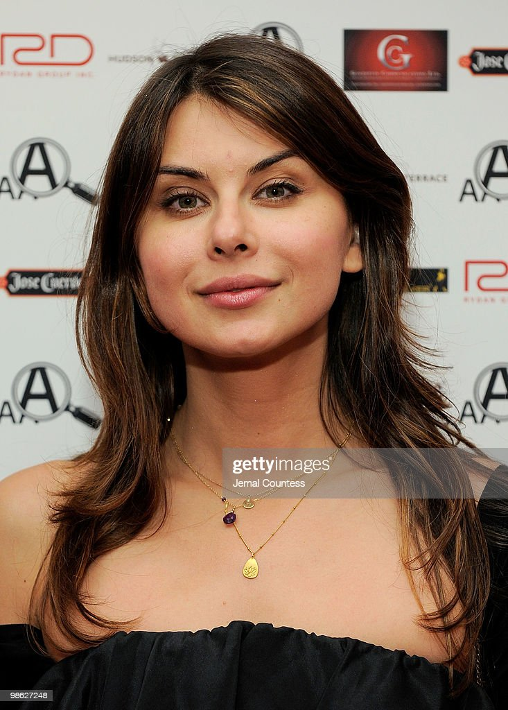 Actress Oksana Lada attends a party hosted by American Apothecary at the Hudson Terrace on April 22, 2010 in New York City.