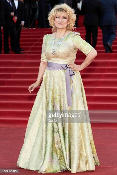 Actress Olga Khokhlova attends opening of the 39th Moscow International Film Festival outside the Karo 11 Oktyabr Cinema on June 22 2017 in Moscow...