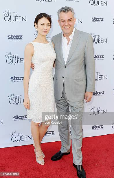 Actress Olga Kurylenko and actor Danny Huston arrive at Cocktails With The QueenThe British Consulate Toasts The US Launch Of The Starz Original...