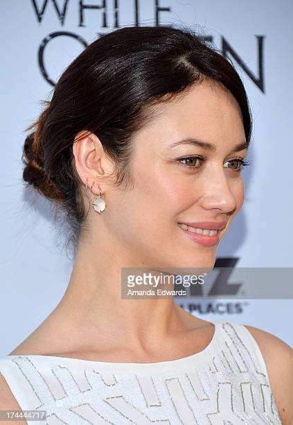 Actress Olga Kurylenko arrives at 'Cocktails with the Queen' the British Consulate's toast to the US launch of the Starz original series 'The White...