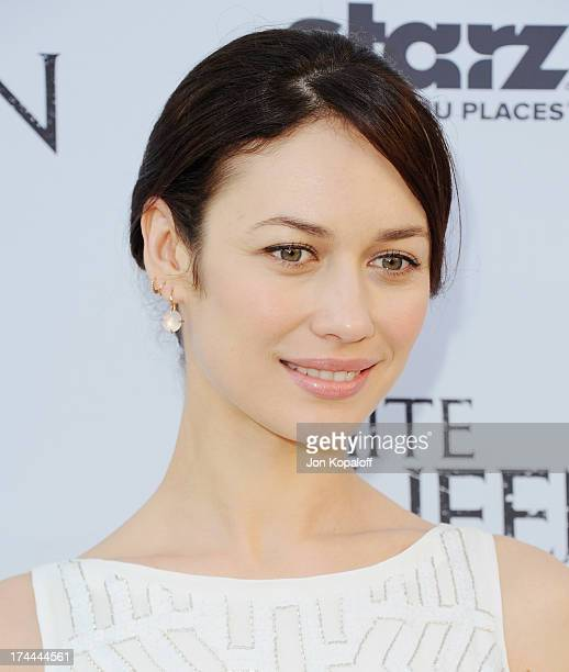 Actress Olga Kurylenko arrives at Cocktails With The QueenThe British Consulate Toasts The US Launch Of The Starz Original Series 'The White Queen'...