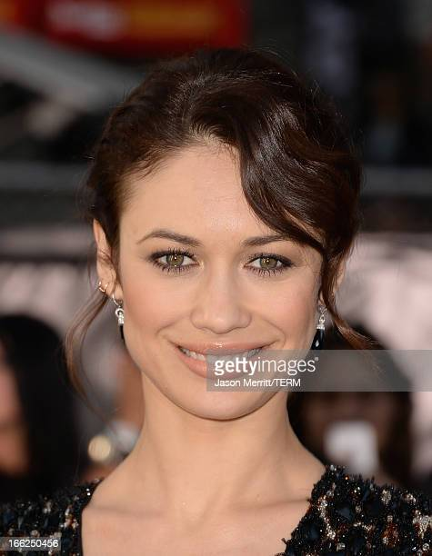 Actress Olga Kurylenko arrives at the premiere of Universal Pictures' Oblivion at Dolby Theatre on April 10 2013 in Hollywood California