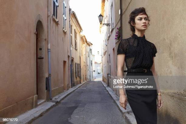 ID 08504000 Actress Olga Kurylenko at a portrait session for Madame Figaro in SaintTropez France in June 2009 PUBLISHED IMAGE CREDIT MUST READ Lothar...
