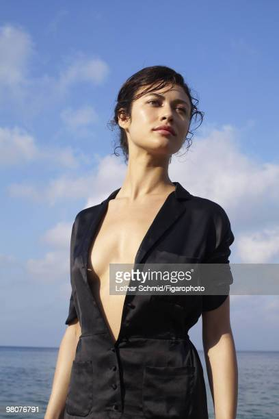 ID 08504000 Actress Olga Kurylenko at a portrait session for Madame Figaro in SaintTropez France in June 2009 CREDIT MUST READ Lothar...