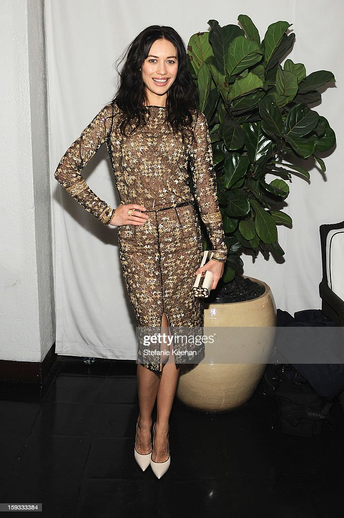 Actress Olga Kurylenko attends Dom Perignon and W Magazine's celebration of The Golden Globes at Chateau Marmont on January 11, 2013 in Los Angeles, California.