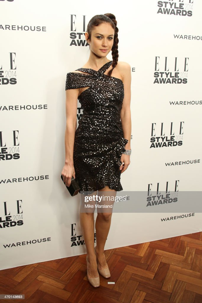 Actress Olga Kurylenko attends the Elle Style Awards 2014 at one Embankment on February 18, 2014 in London, England.