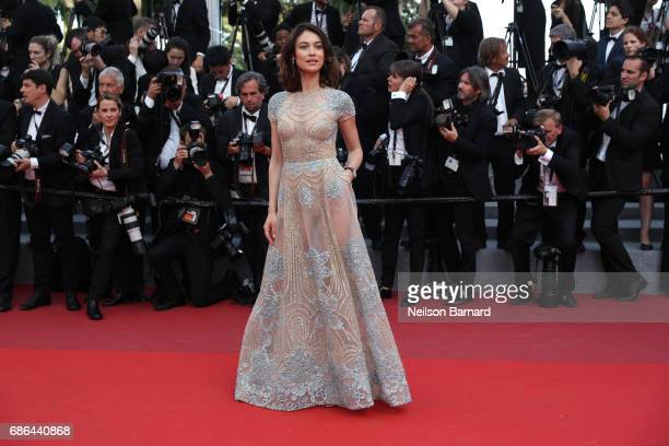 Actress Olga Kurylenko attends 'The Meyerowitz Stories' screening during the 70th annual Cannes Film Festival at Palais des Festivals on May 21 2017...