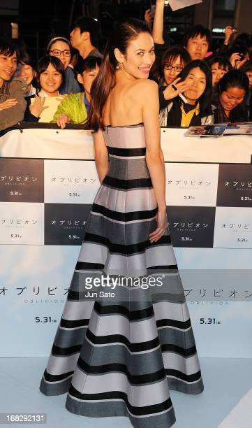 Actress Olga Kurylenko attends the 'Oblivion' Japan Premiere at Roppongi Hills on May 8 2013 in Tokyo Japan The film will open on May 31 in Japan