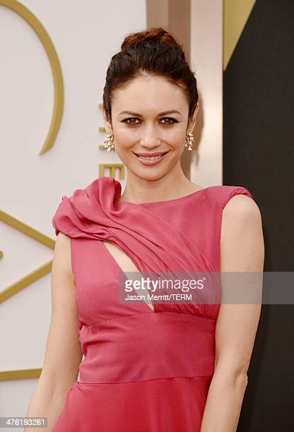 Actress Olga Kurylenko attends the Oscars held at Hollywood Highland Center on March 2 2014 in Hollywood California