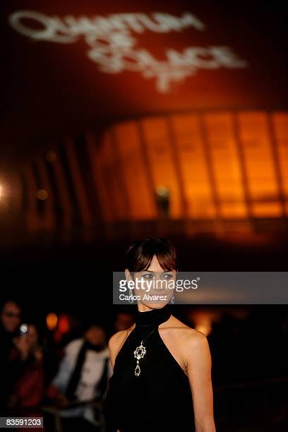 Actress Olga Kurylenko attends the Quantum of Solace premiere at the Palau de las Arts on November 06 2008 in Valencia Spain