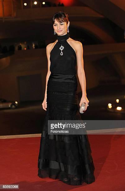 "Actress Olga Kurylenko attends the ""Quantum of Solace"" premiere at the Palau de les Arts on November 6, 2008 in Valencia, Spain."